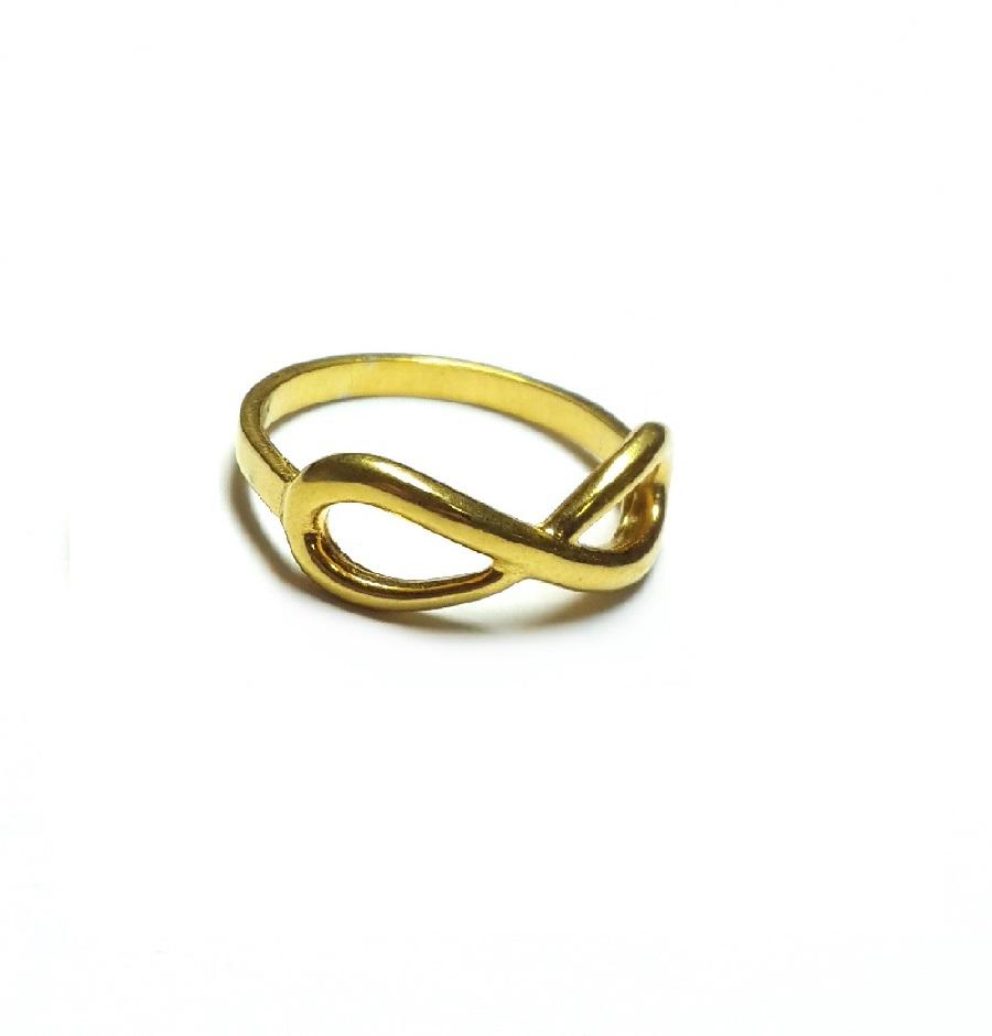 Фаланговое кольцо Бесконечность из золота 585 пробы def807f458cc2